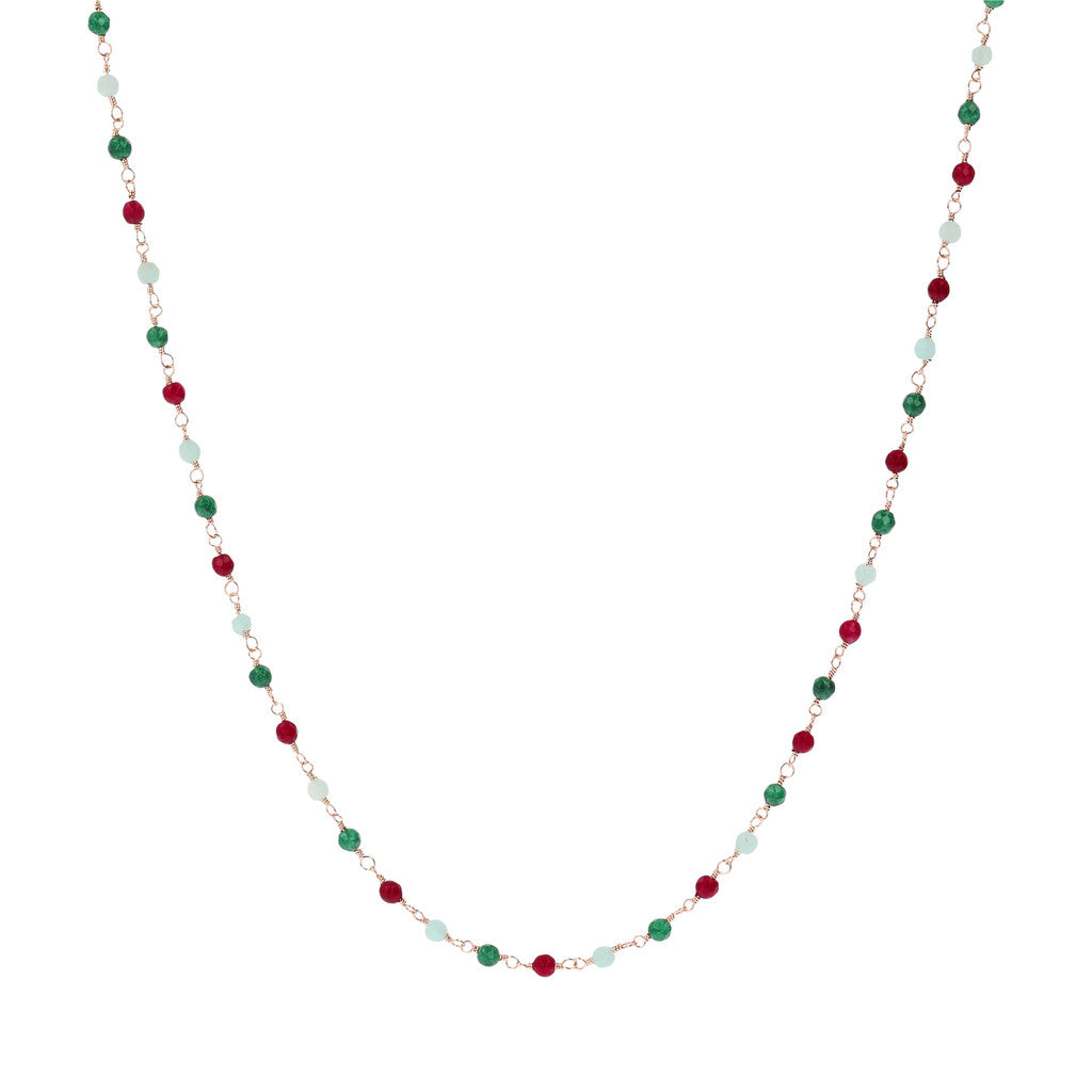 Rose Quartzite Amorette Necklace