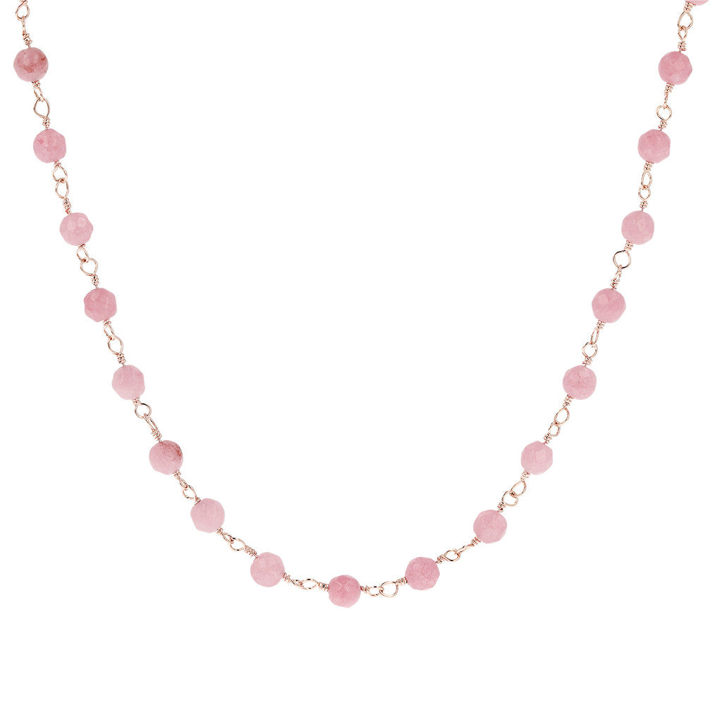 Bronzallure | Necklaces | Rose Quartzite Amorette Necklace