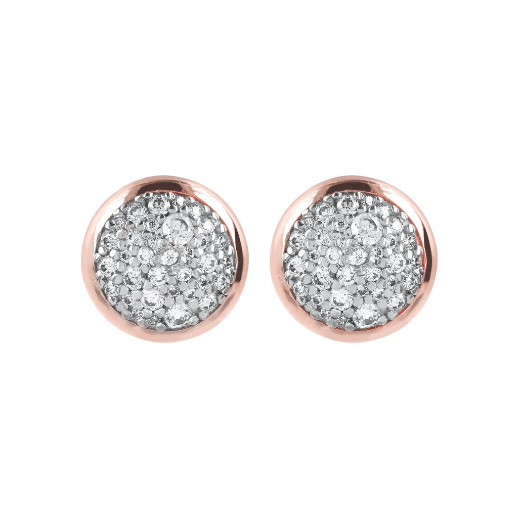 Round Dome Pave Earrings