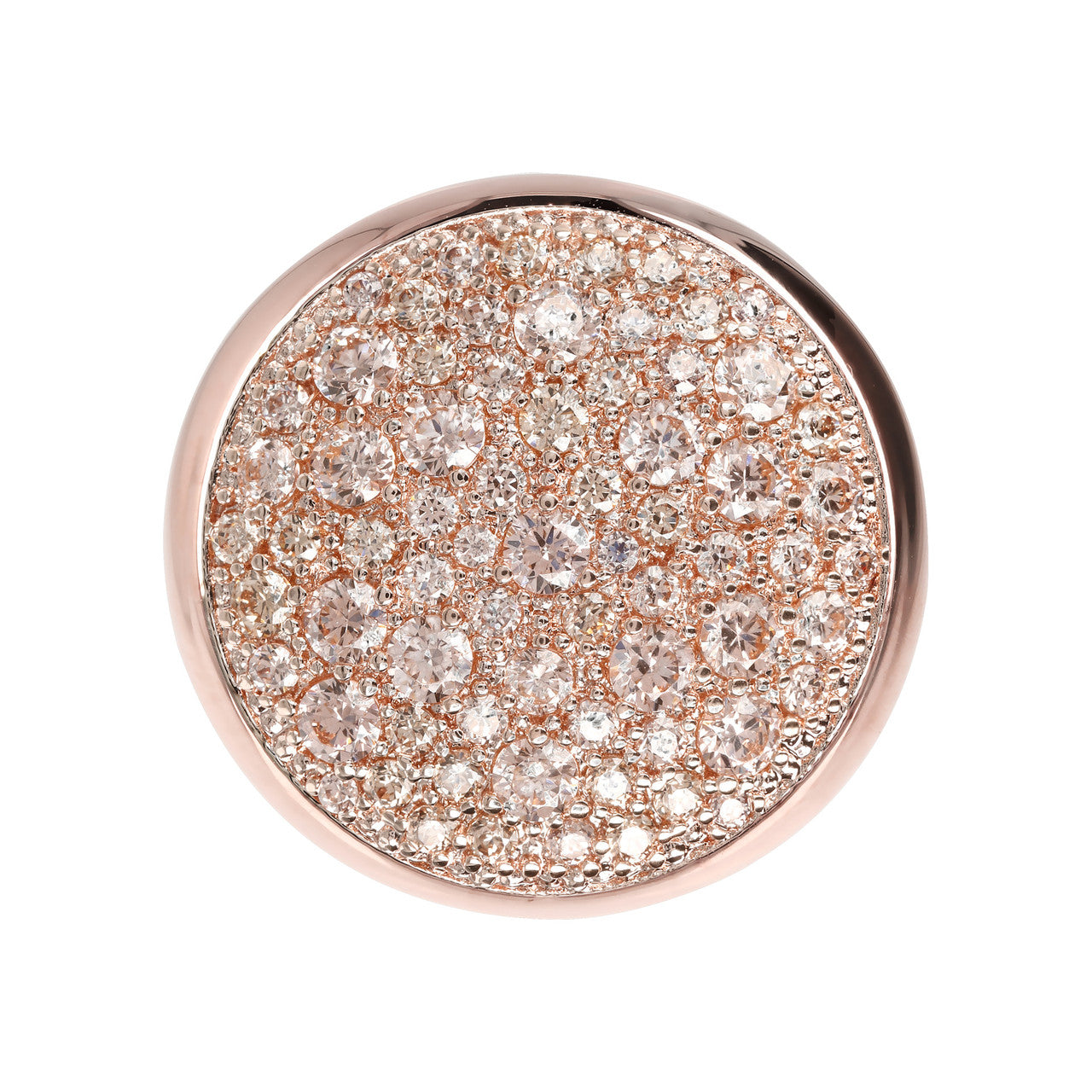 Round Dome Pave Ring