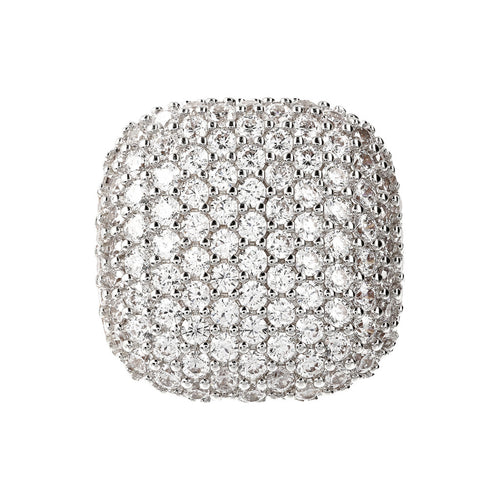 Round Pave Ring Bronzallure Yellow Gold setting