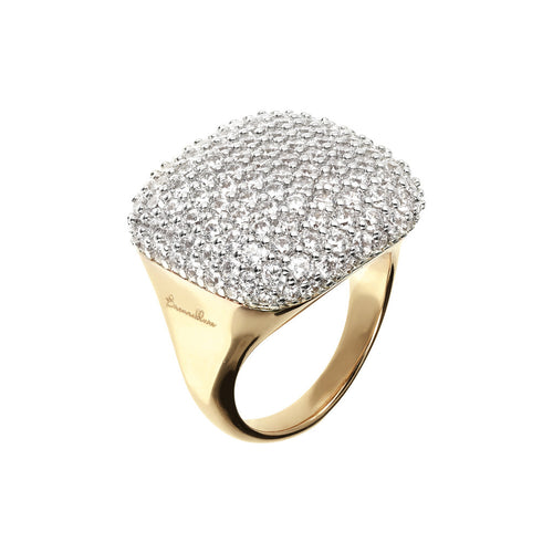 Round Pave Ring Bronzallure Yellow Gold