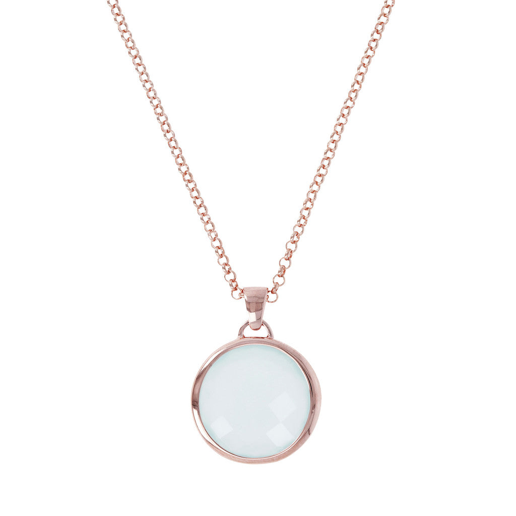 Round Stone Pendant Necklace