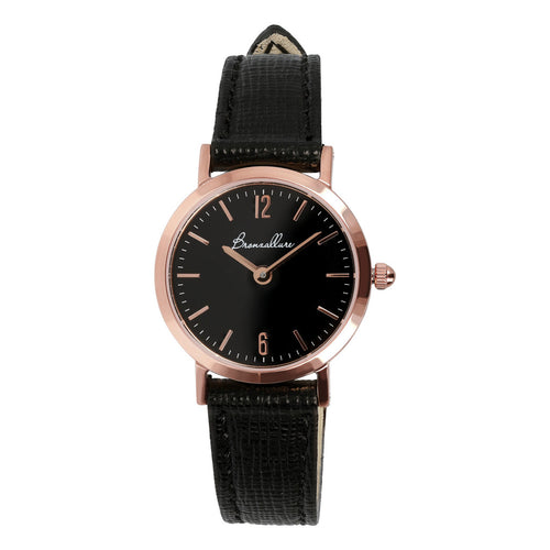 Bronzallure | Watches | Round Watch Black Dial