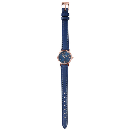 Round Watch Blue Dial bracelet