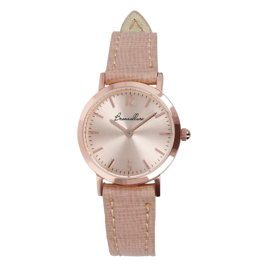 Round Watch Rose Dial