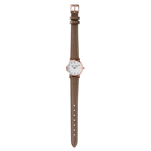 Round Watch White Dial bracelet