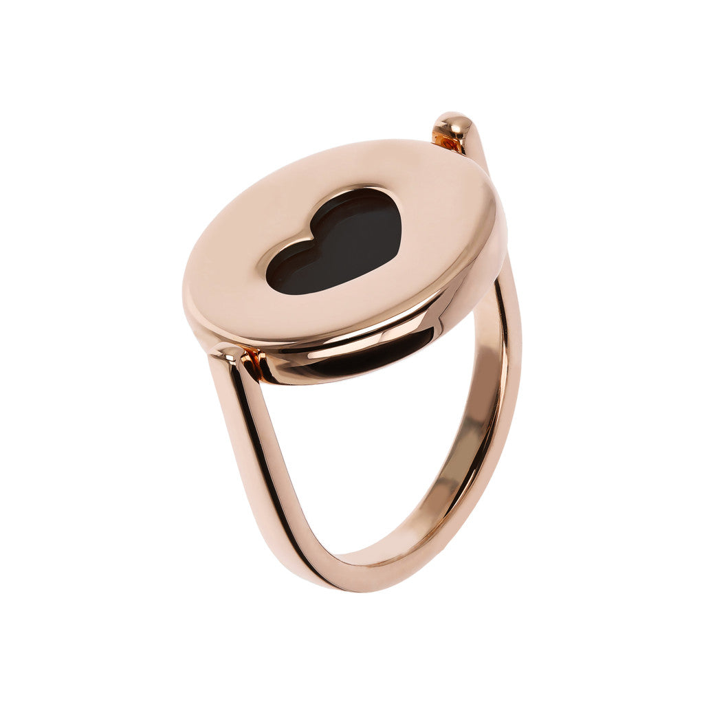 Secret Heart Ring BLACK ONYX