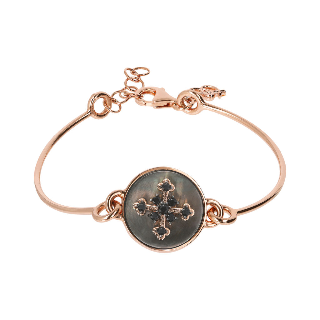 Bronzallure | Bracelets | Semirigid Bangle with Mother of Pearl