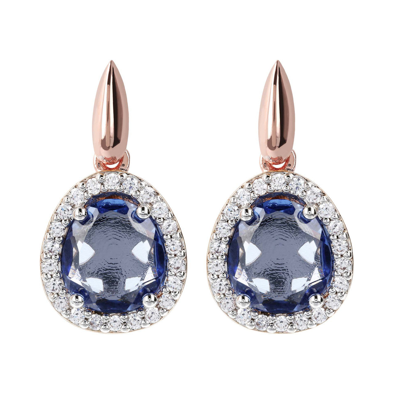 Short Drop Earrings HYDROTHERMAL  SAPPHIRE