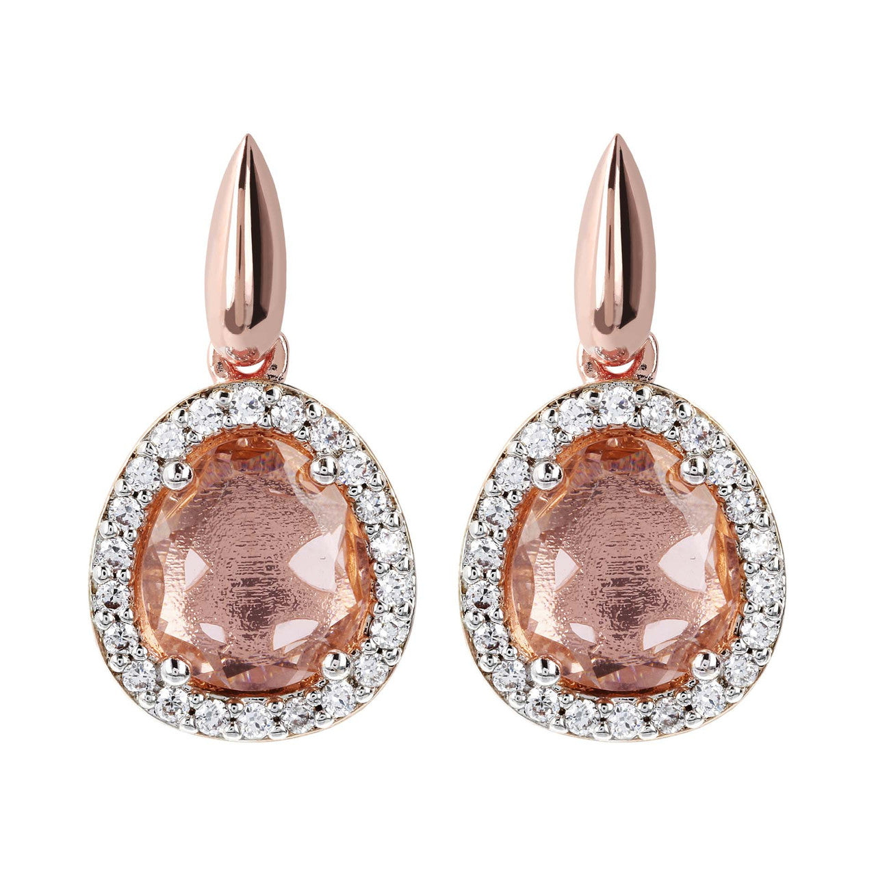 Short Drop Earrings MORGANITE