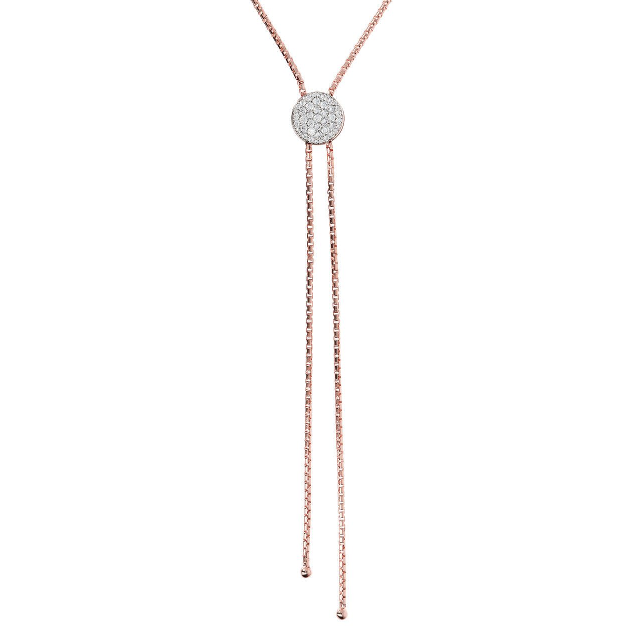 Sliding Lariat Necklace CUBIC ZIRCONIA
