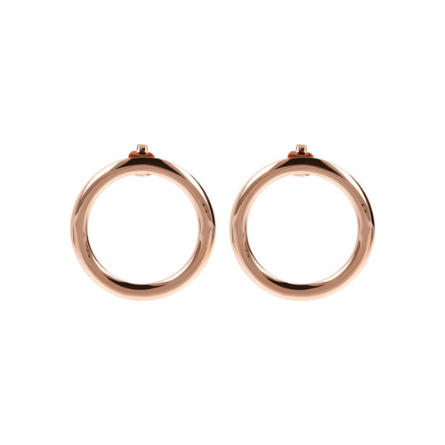 Small Circle Earrings Golden Rosè