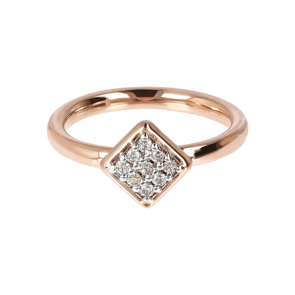 Square Ring Phalanx CZ setting