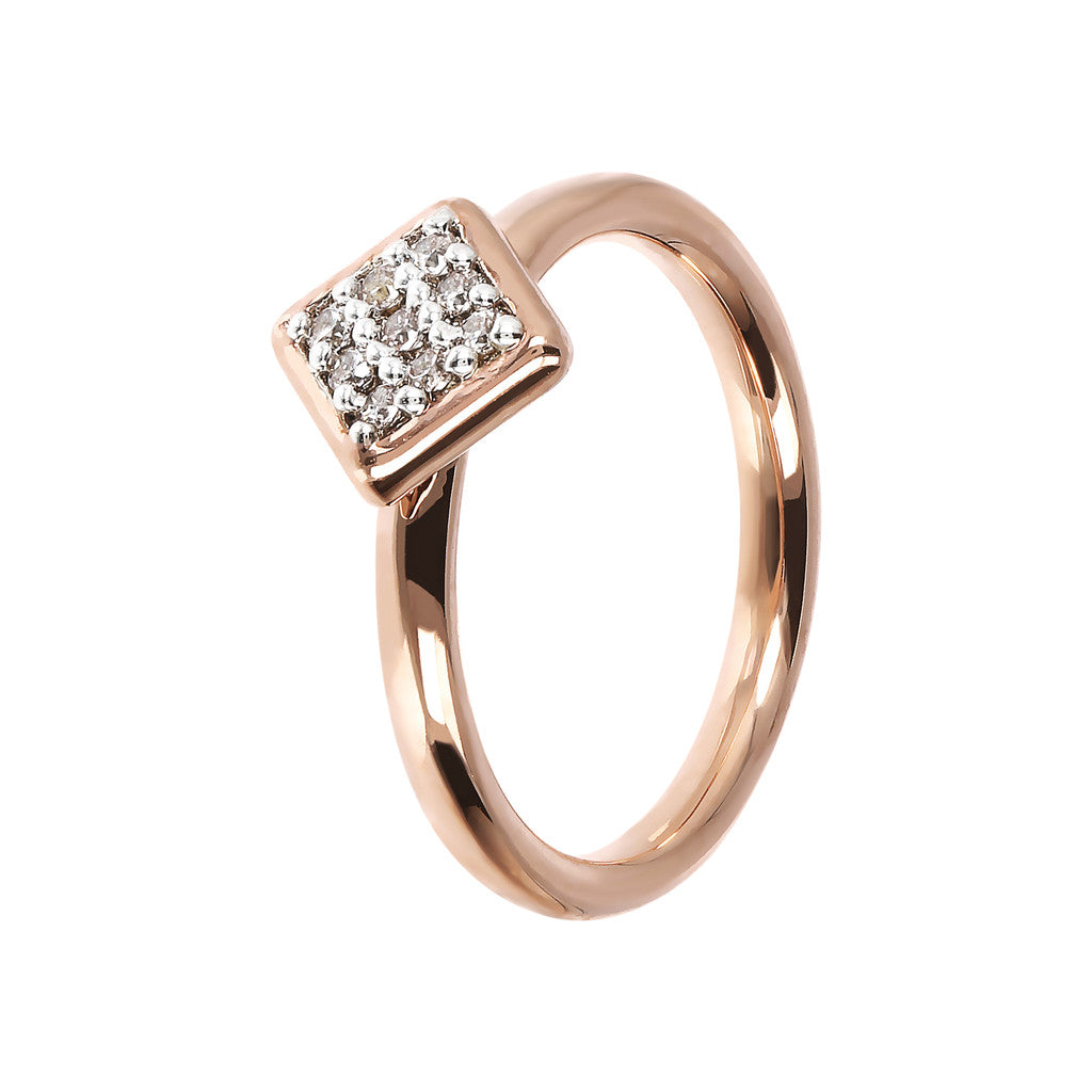 Bronzallure | Rings | Square Ring Phalanx CZ