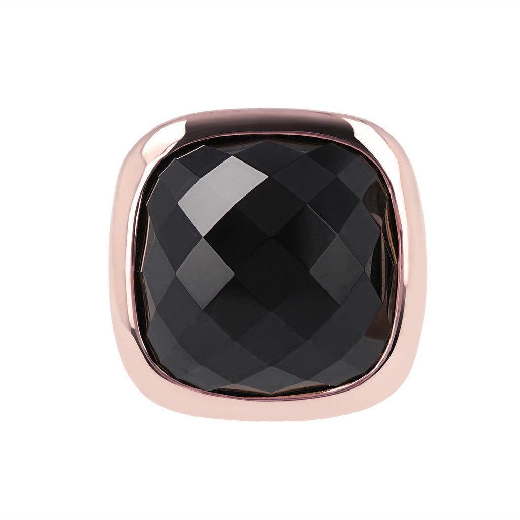 Square ring BLACK ONYX setting