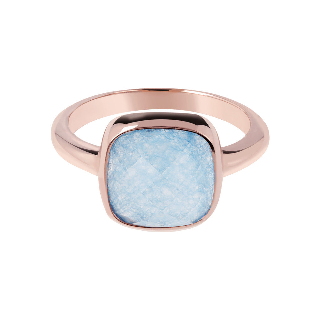 Square stone ring setting