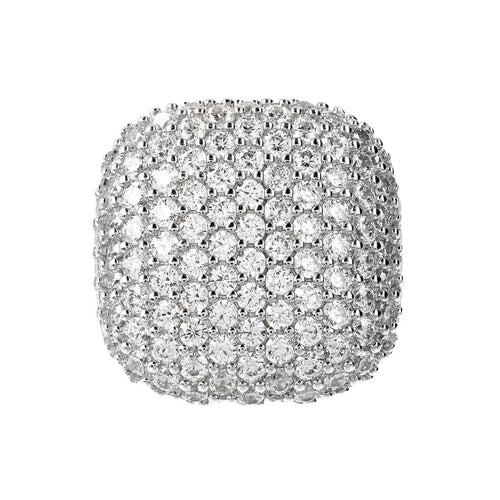 Squared Pave Ring Luna setting