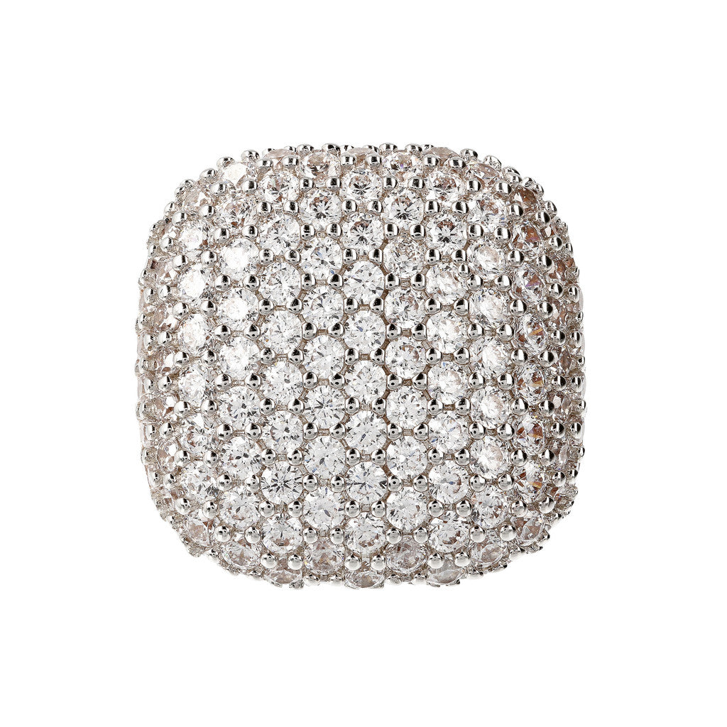 Square Pave Ring setting