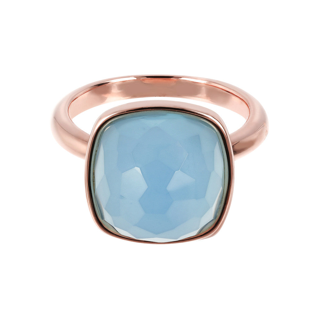 Statement Cocktail Rings BLUE CHALCEDONY setting