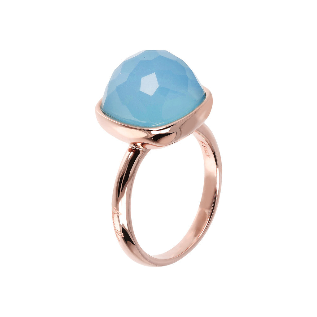 Statement Cocktail Rings BLUE CHALCEDONY