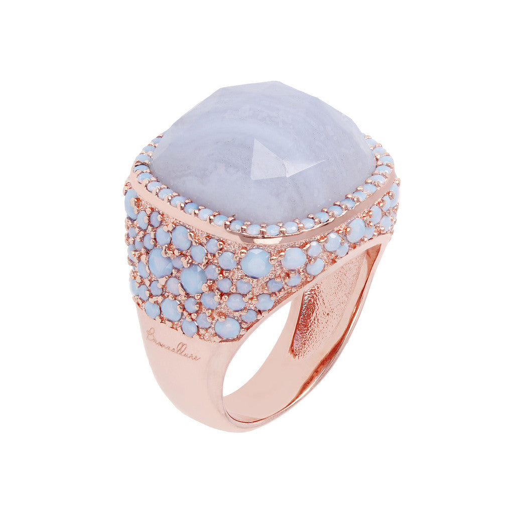 Statement Ring BLUE LACE AGATE