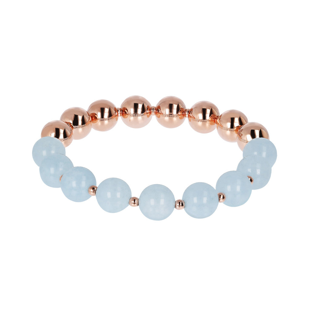 Stretch Bracelet Variegata LIGHT BLUE QUARTZITE