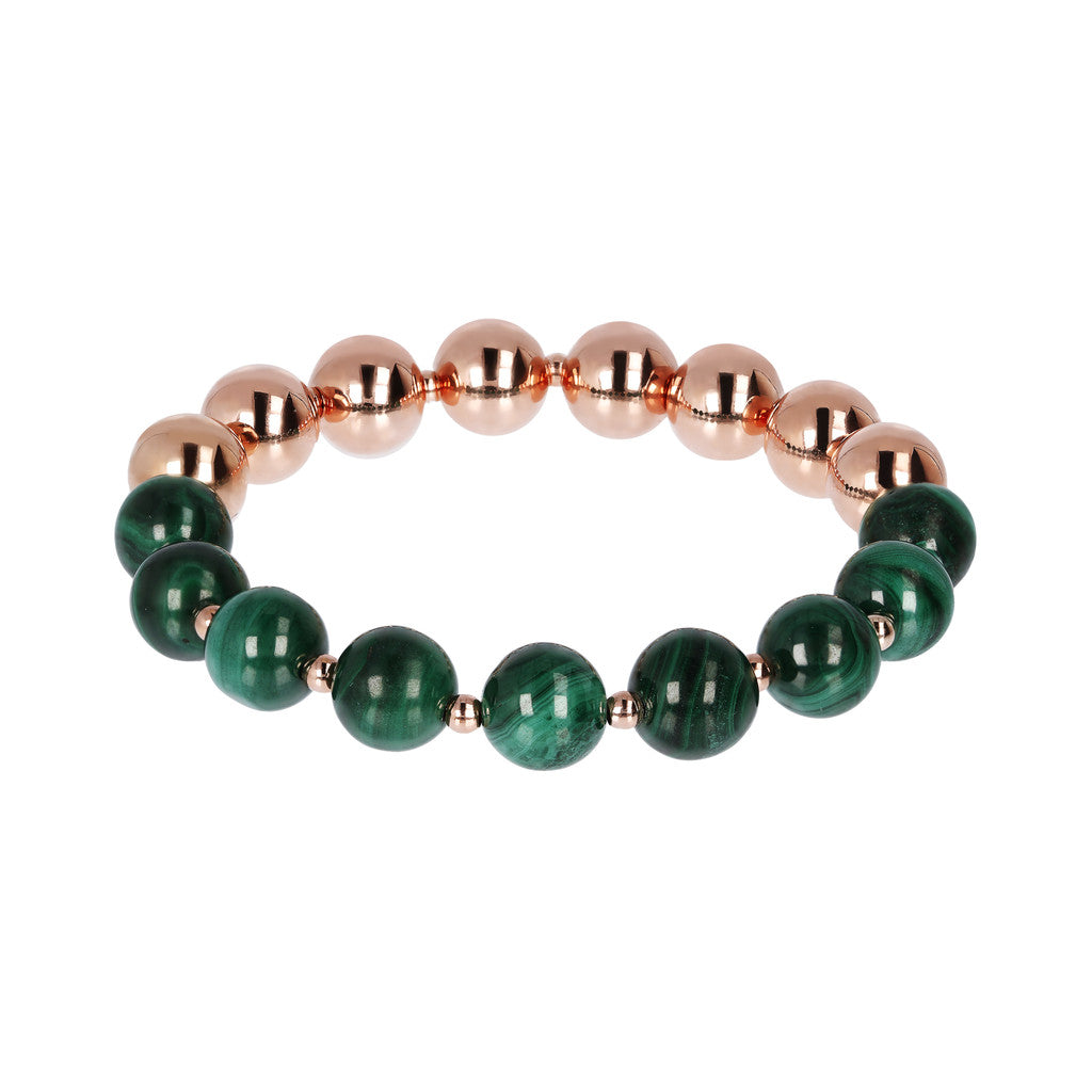 Stretch Bracelet Variegata MALACHITE