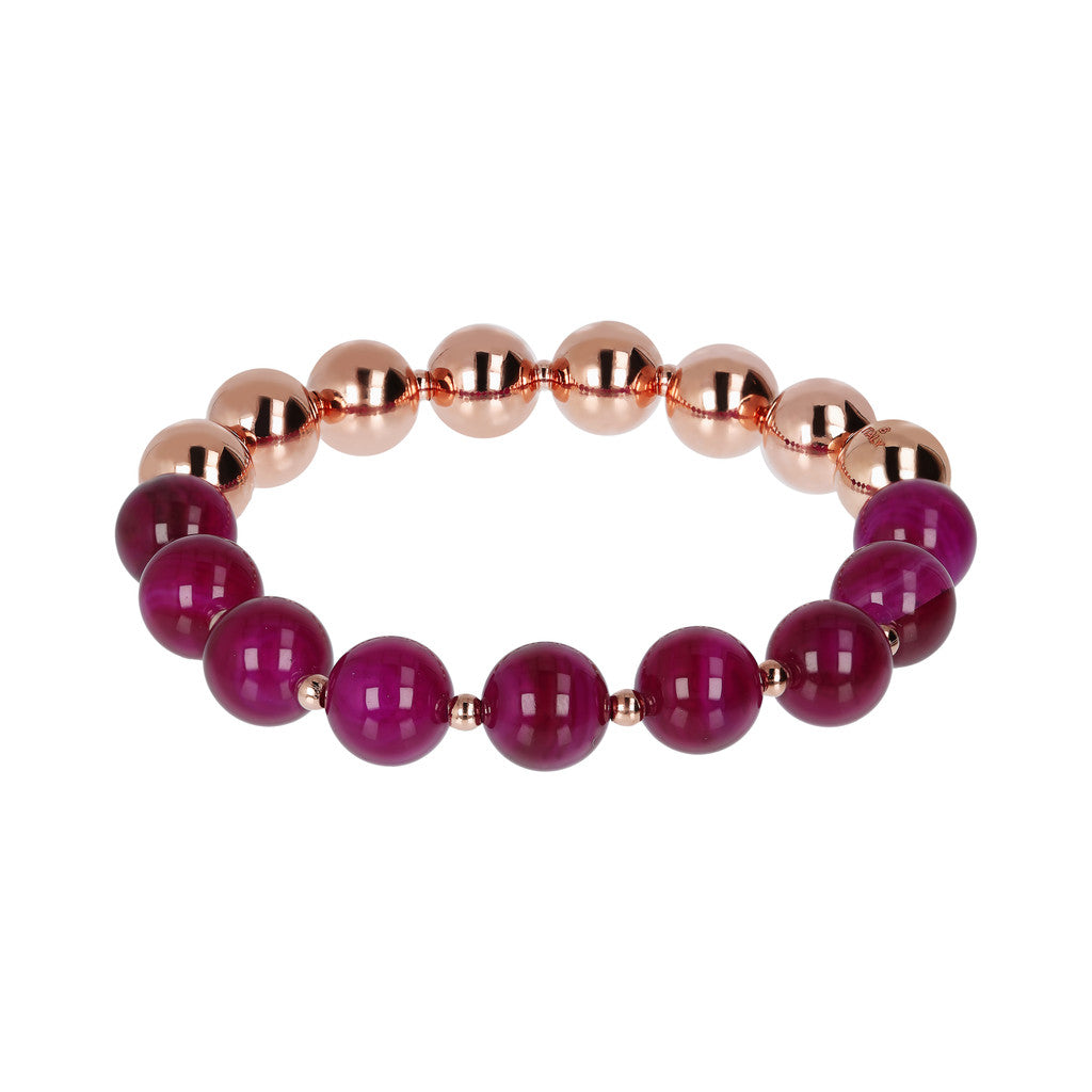 Stretch Bracelet Variegata PURPLE AGATE