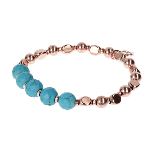 Stretchable Nugget and Gemstone Bracelet