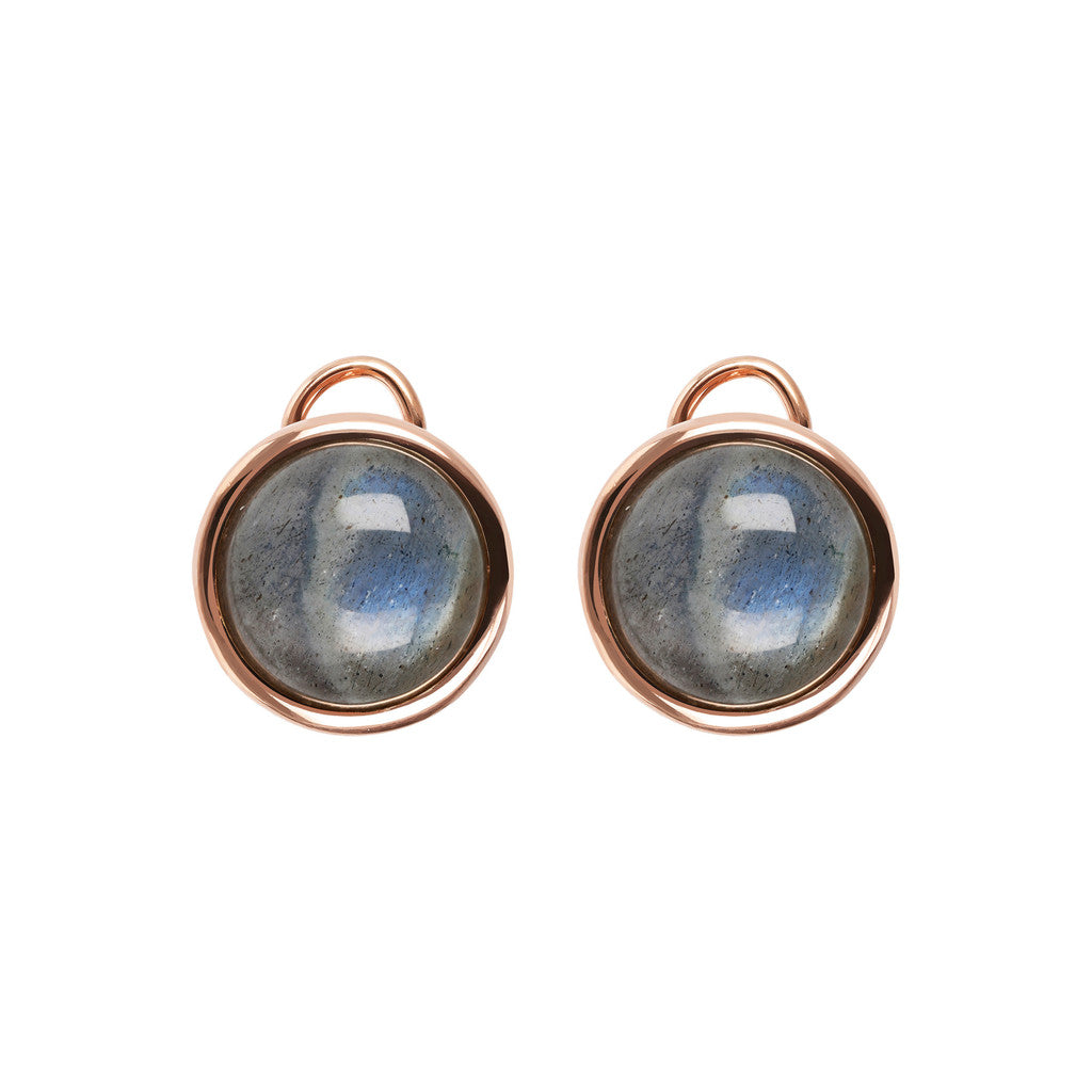 Stud Earrings with Natural Gems LABRADORITE