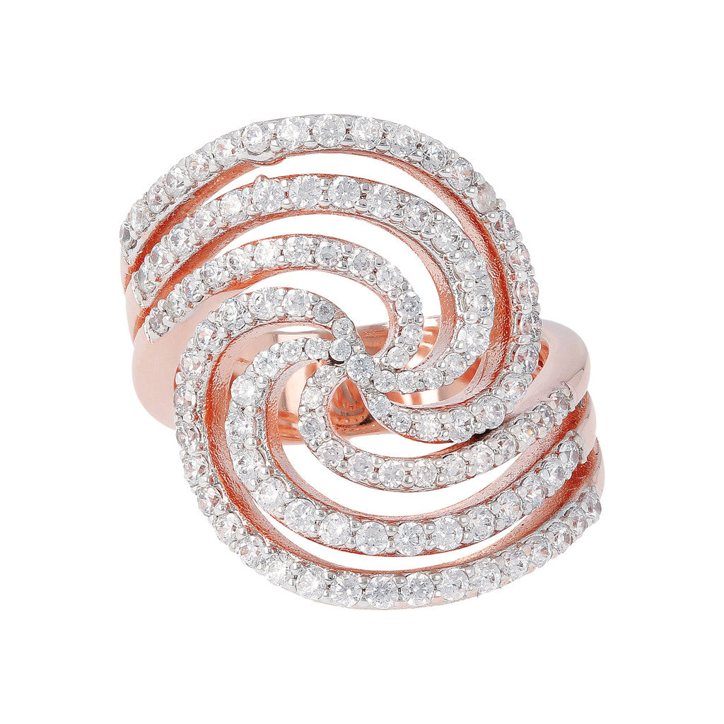 Swirl Ring CZ setting