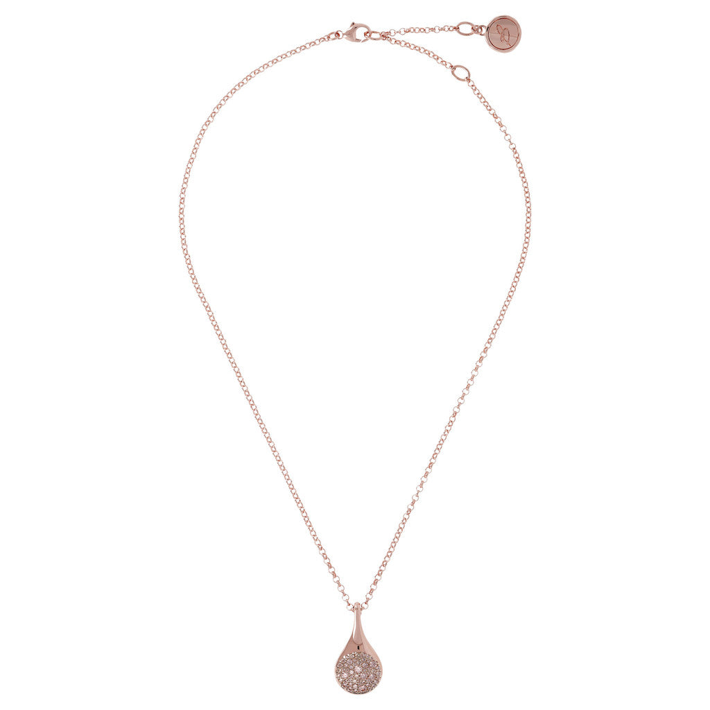 Teardrop Pendant Necklace MORGANITE from above