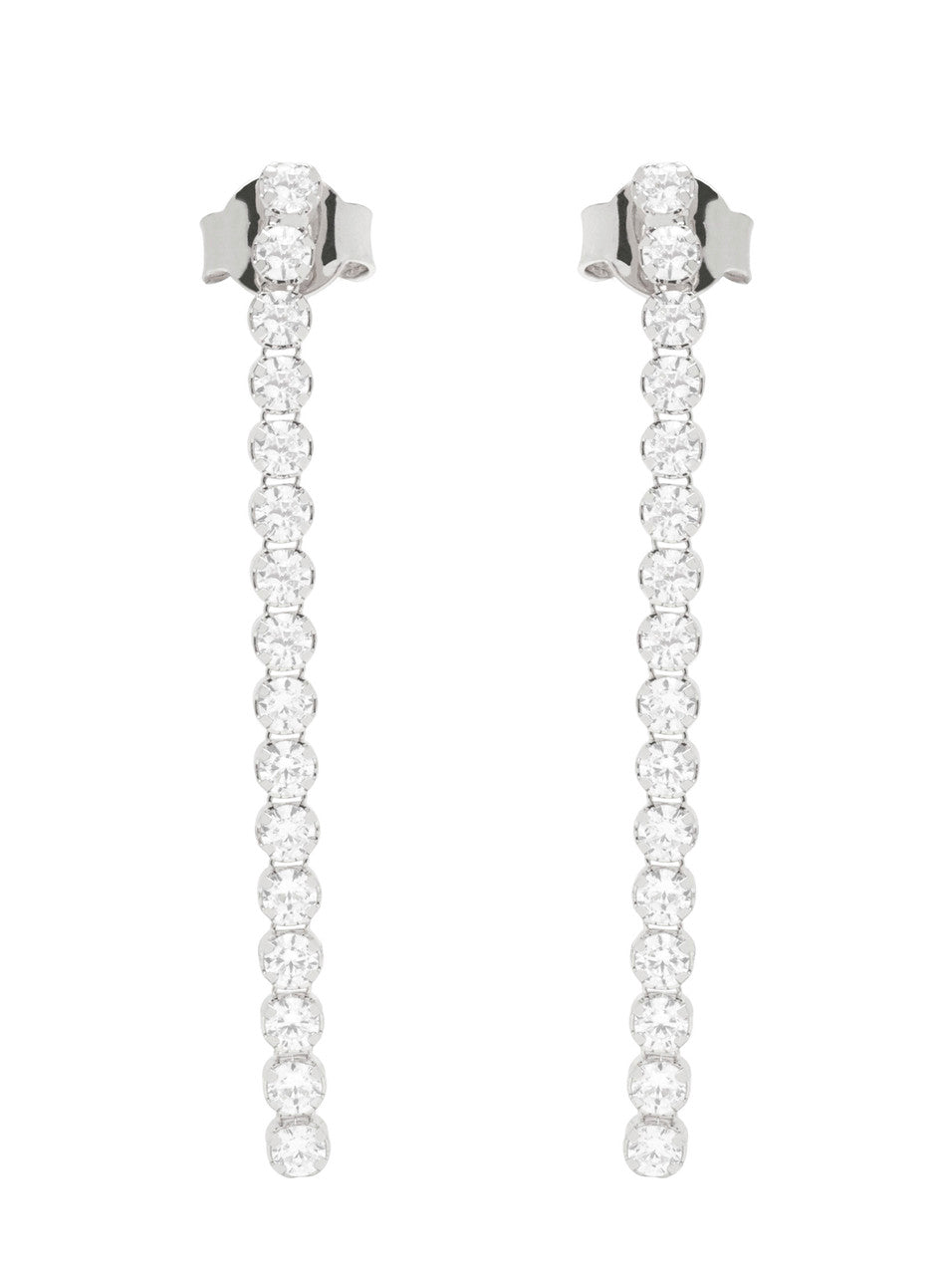 Tennis Dangle Earrings with cubic zirconia