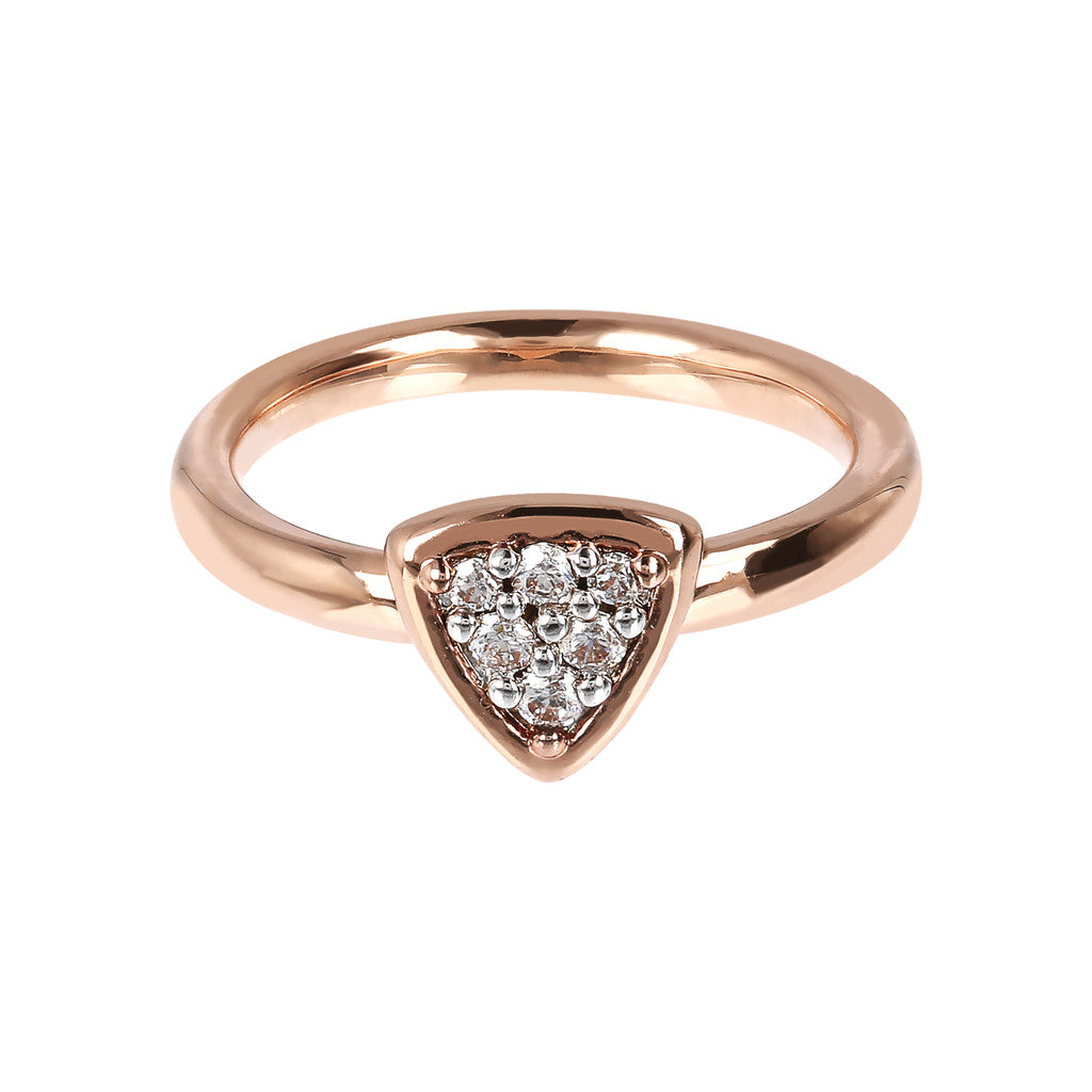 Triangle Ring Phalanx CZ setting