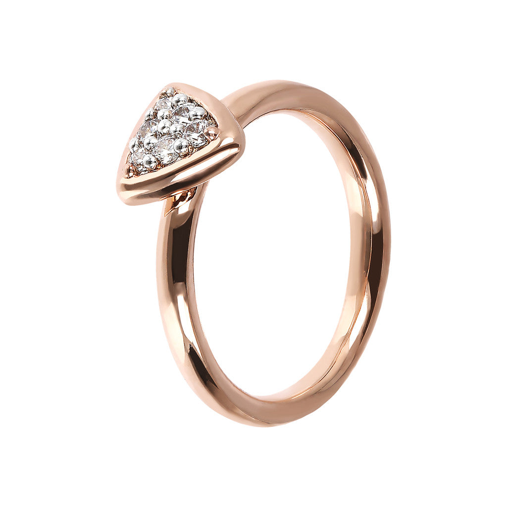 Bronzallure | Rings | Triangle Ring Phalanx CZ