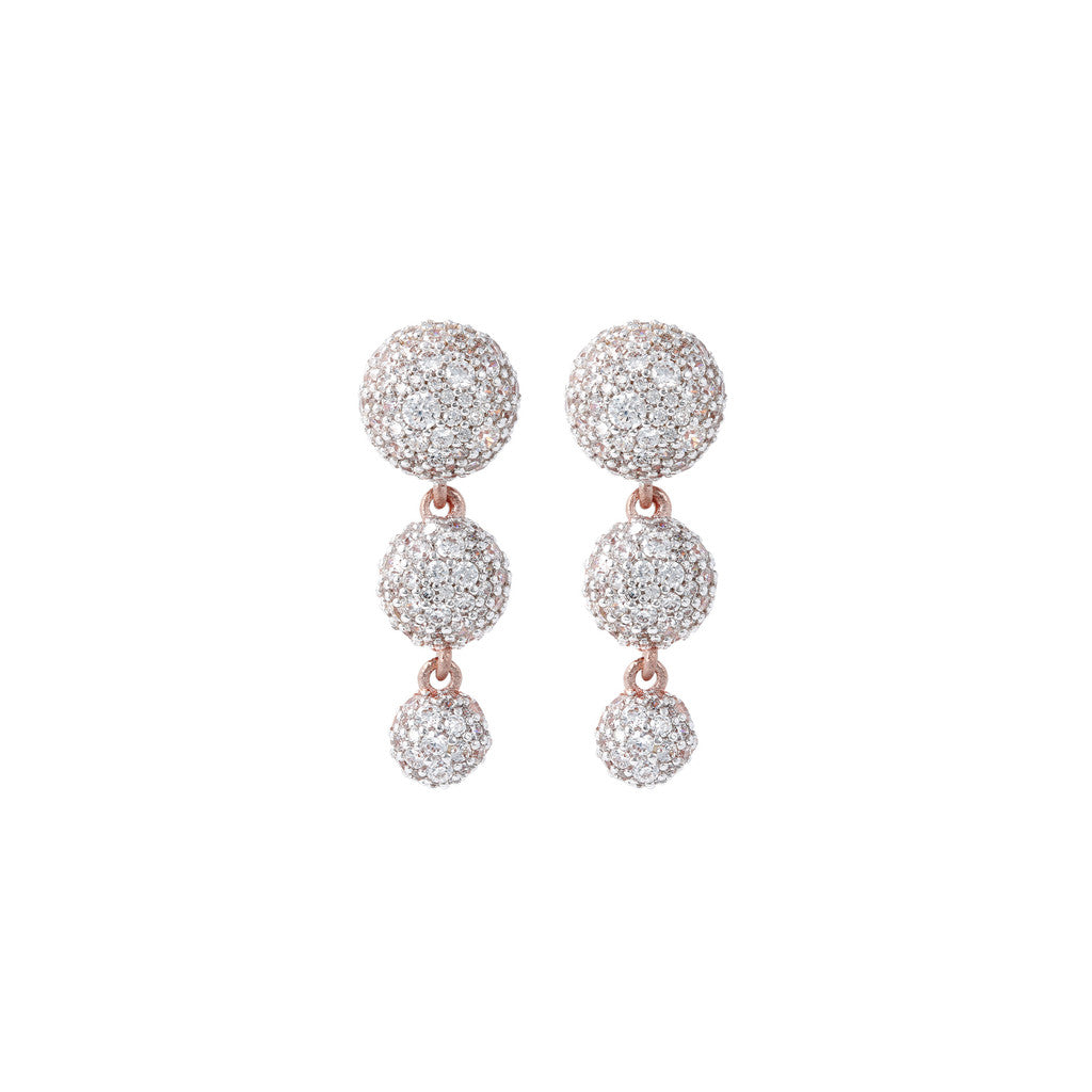 Trilogy Pave Earrings