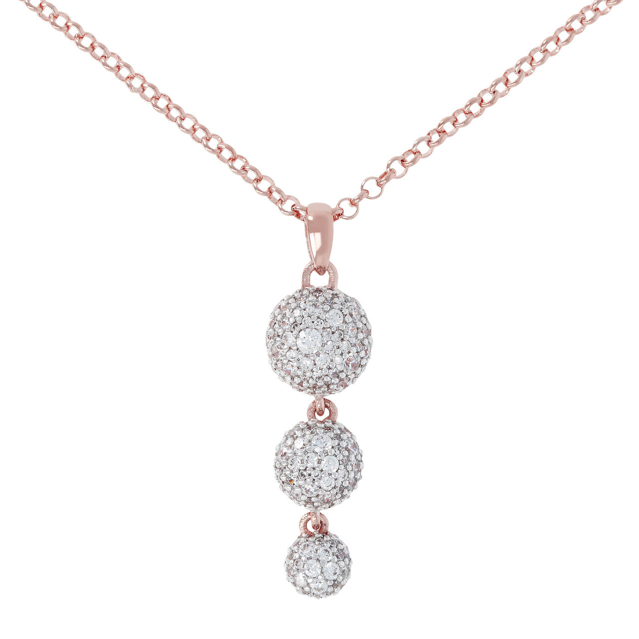 Trilogy Pave Necklace