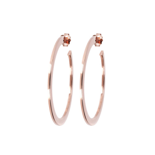 Tubular Golden Rose Shiny Hoops