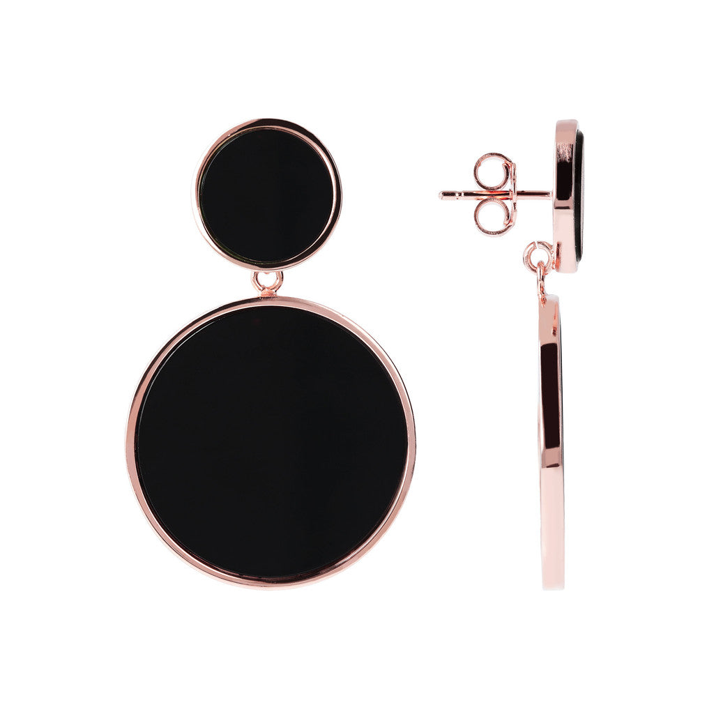 Two Disc earrings front and side