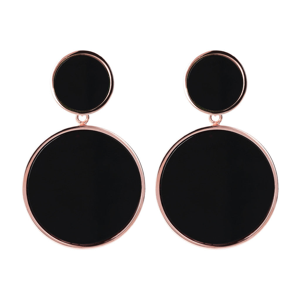 Bronzallure | Earrings | Two Discs Dangle Earrings
