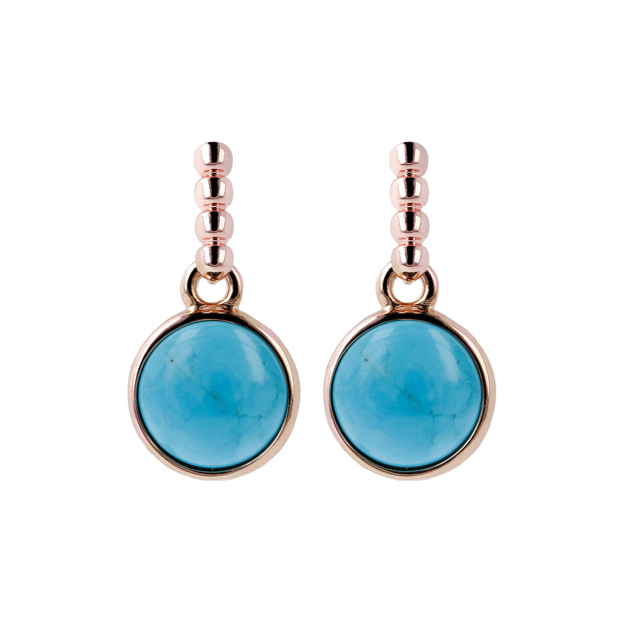 Two Tone Disc Dangle Earrings MAGNESITE