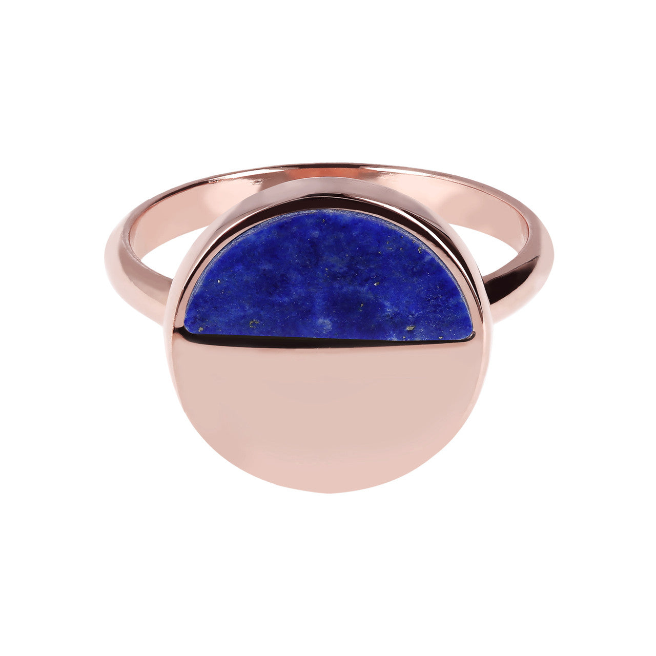 Two Tone Disc Ring setting