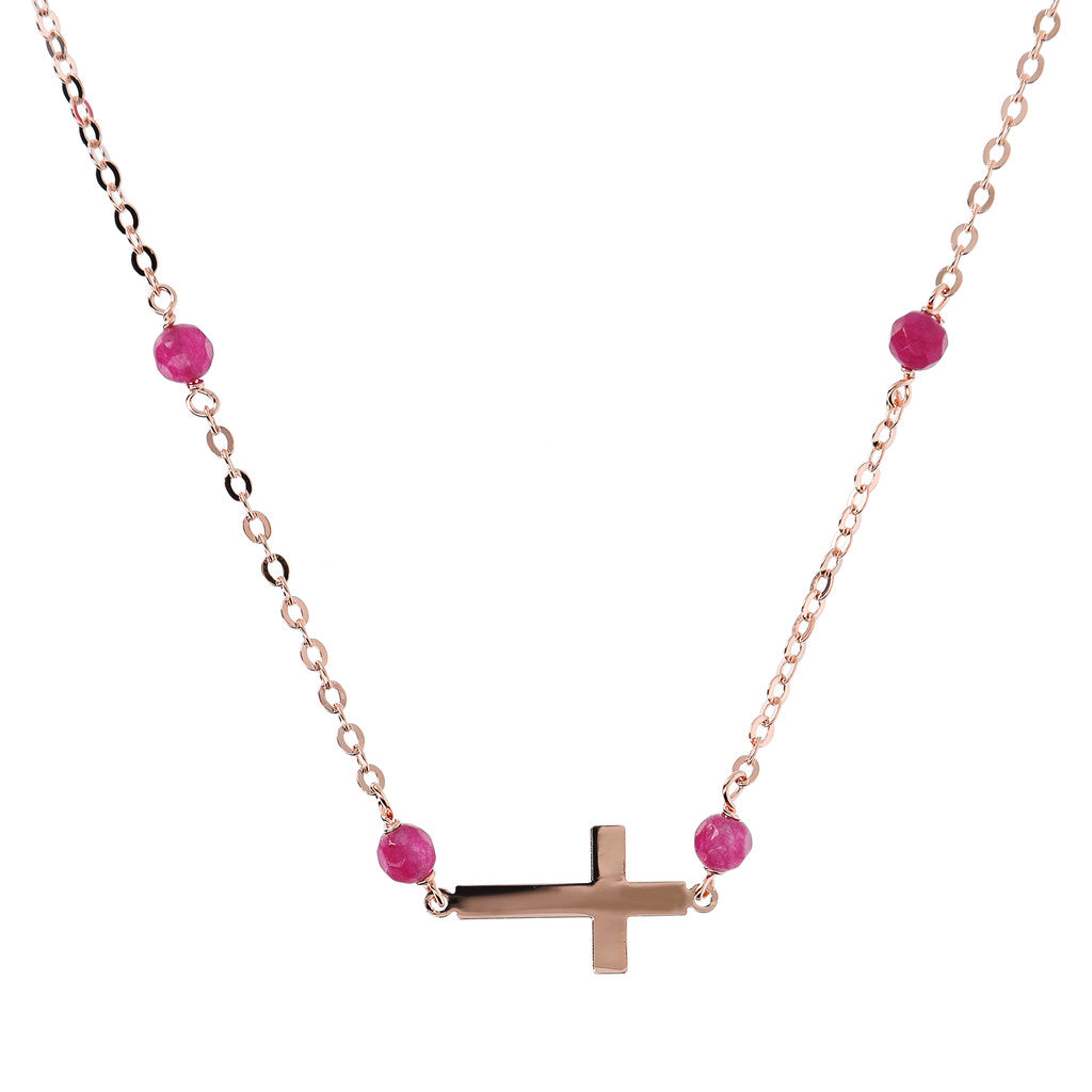 Rosary necklace with Cross