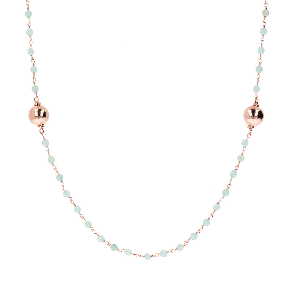 VARIEGATA CHOICE OF GEMSTONE ROSARY  NECKLACE  WITH WHITE MING CULTURED PEARL STATION - WSBZ01352