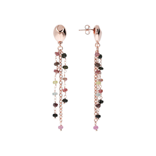 Earrings with stones front and side