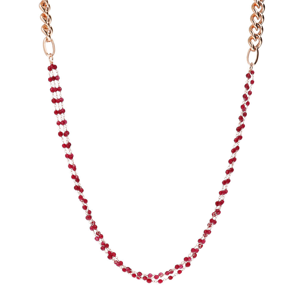 Multi-Strand Rosary Necklace