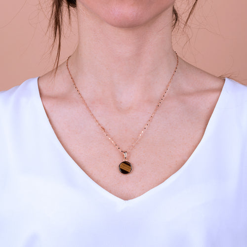 Bronzallure | Necklaces | Small Disc Pendant Necklace
