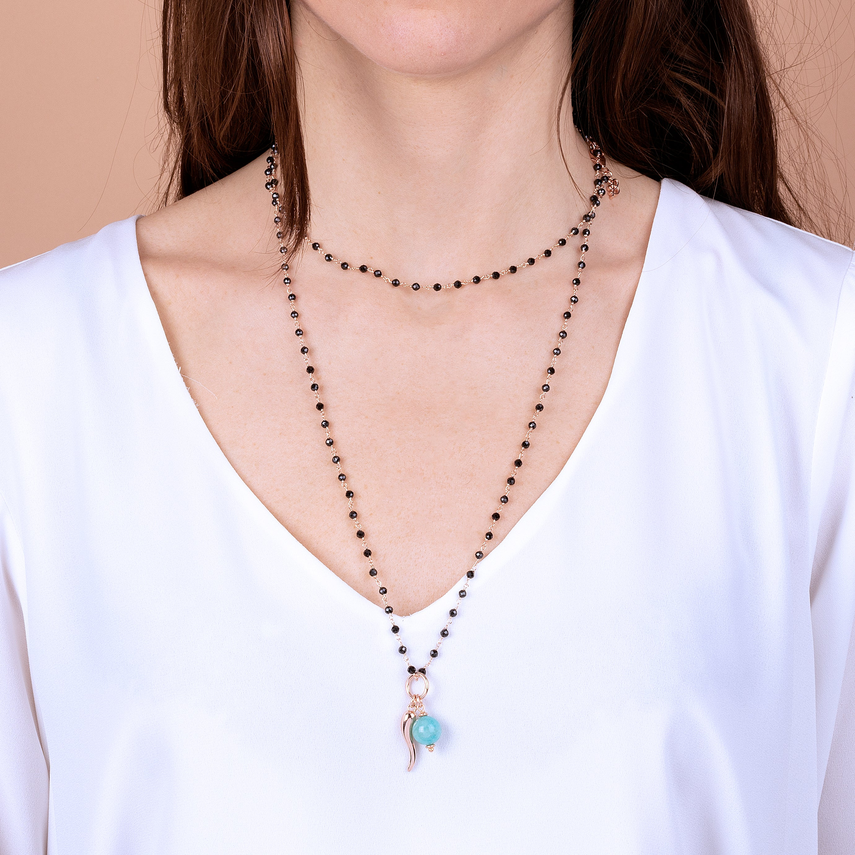 Horn and Amazonite Amulet Charm