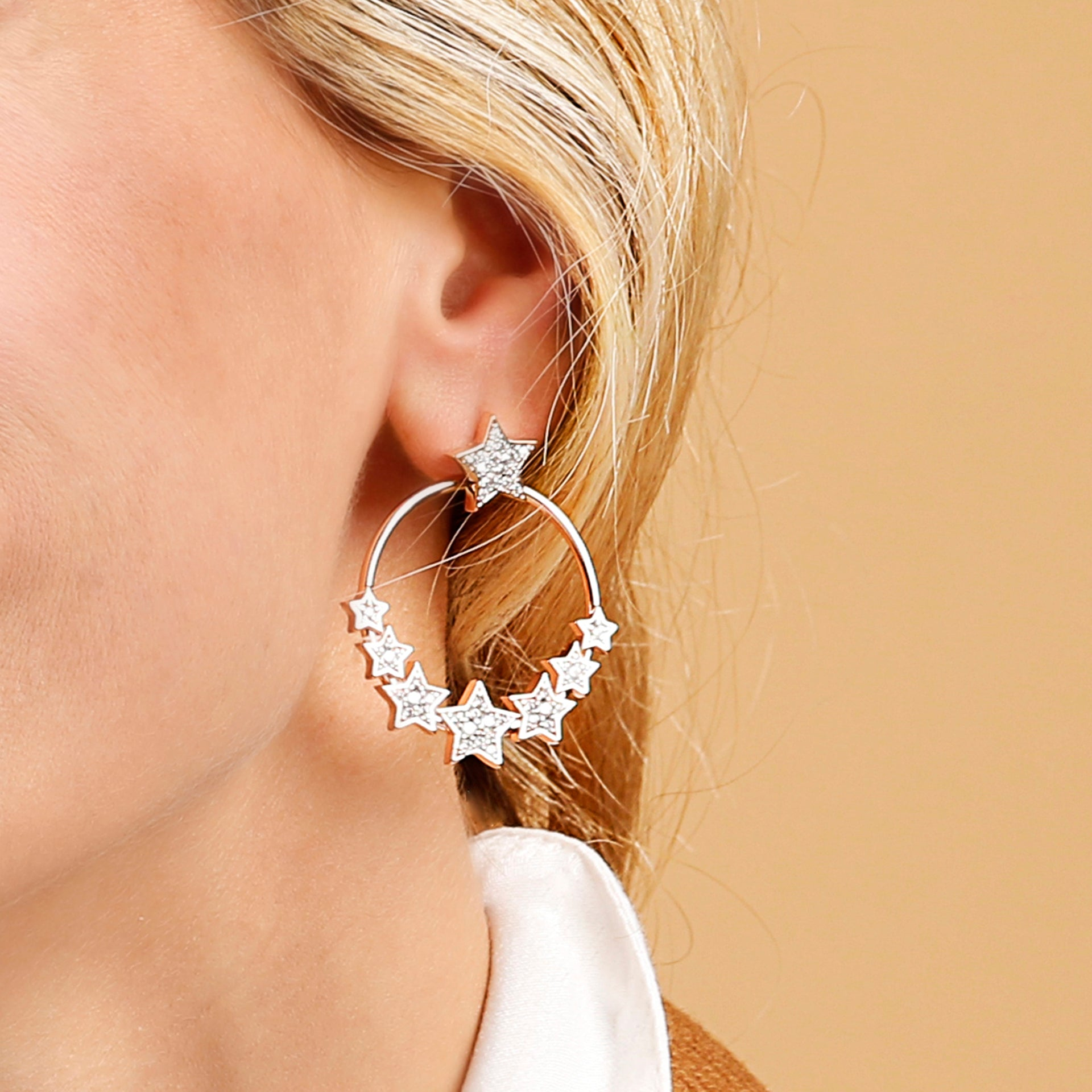 Hoop Earrings Stars